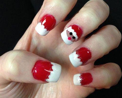 Designs Art Nail Polish: Xmas Santa Claus Nail Art and Designs NO 012 - Christmas-Santa-Face-Nail-Art-Designs-Ideas-Stickers-2015-Xmas-Nails