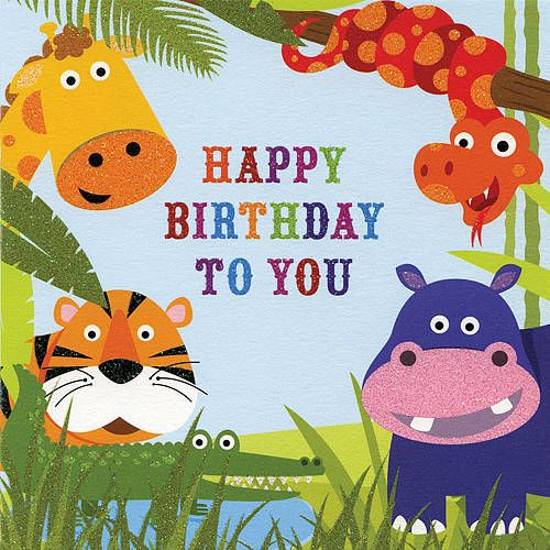 Childrens birthday cards happy birthday free happy birthday cards jungle buddies jungle buddies happy birthday to you jungle buddies happy birthday to you greeting cards and social stationery bookmarktalkfo Choice Image