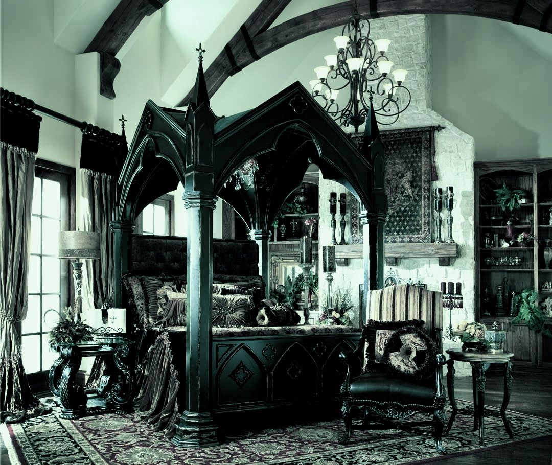 Medieval bedrooms - Canopy Bed Gothic Bed Medieval Bedroom Ideas Medieval Gothic Home Medieval Kings Bed Gothic Castle Bed I Am In Love