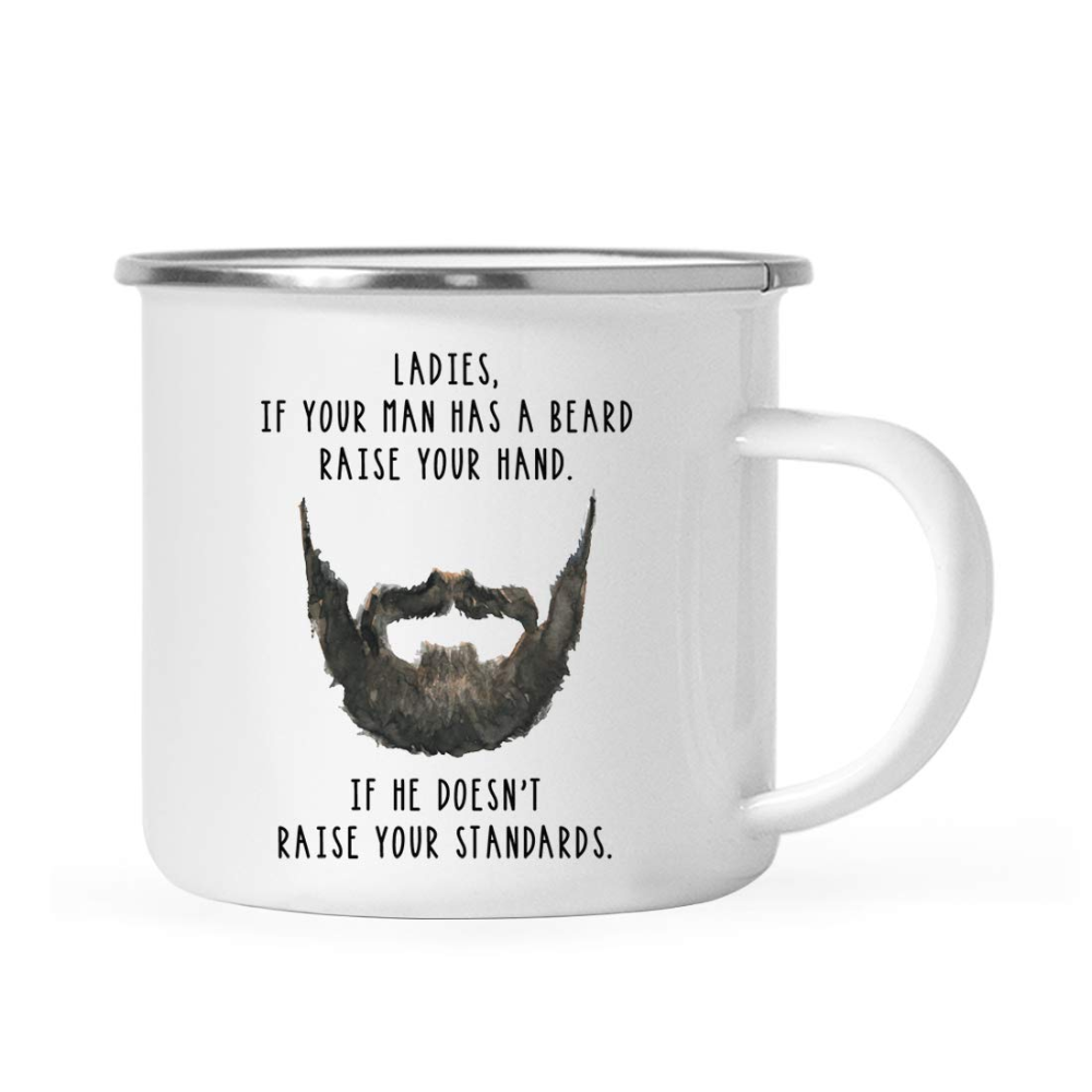 Andaz Press Funny Beard Themed 11oz. Stainless