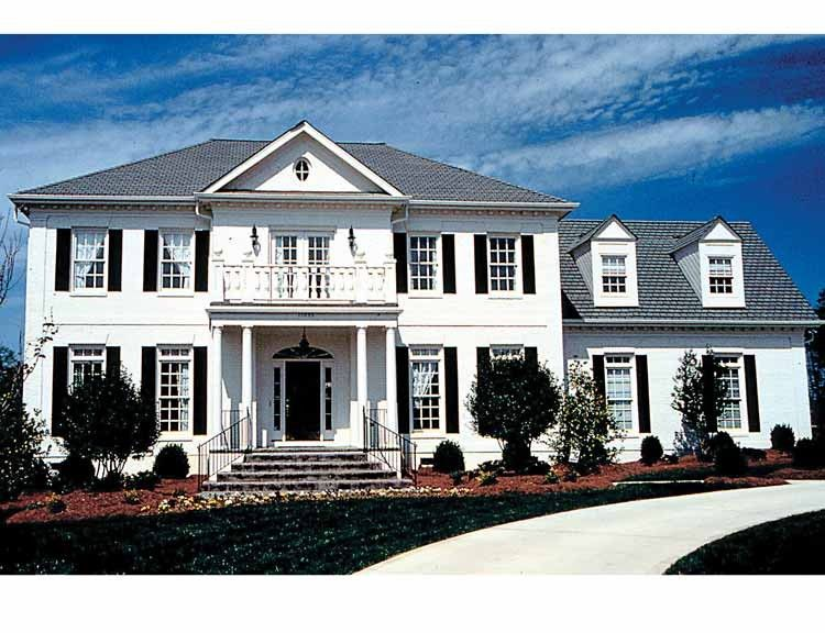 Adam Federal House Plan with 3298 Square Feet and 4 Bedroomss