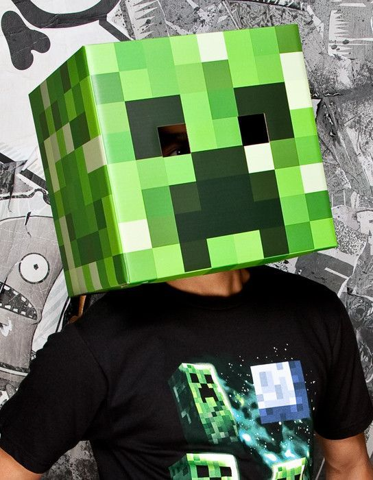 *Cardboard construction *Officially licensed *Based off of the hit game Minecraft *Easy to see eye holes *Brand new