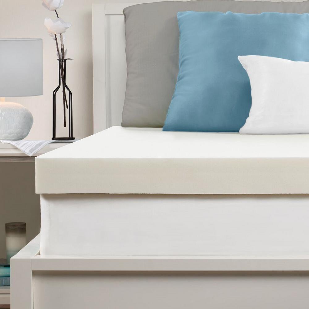 Sealy 3 In Full Memory Foam Mattress Topper White Foam