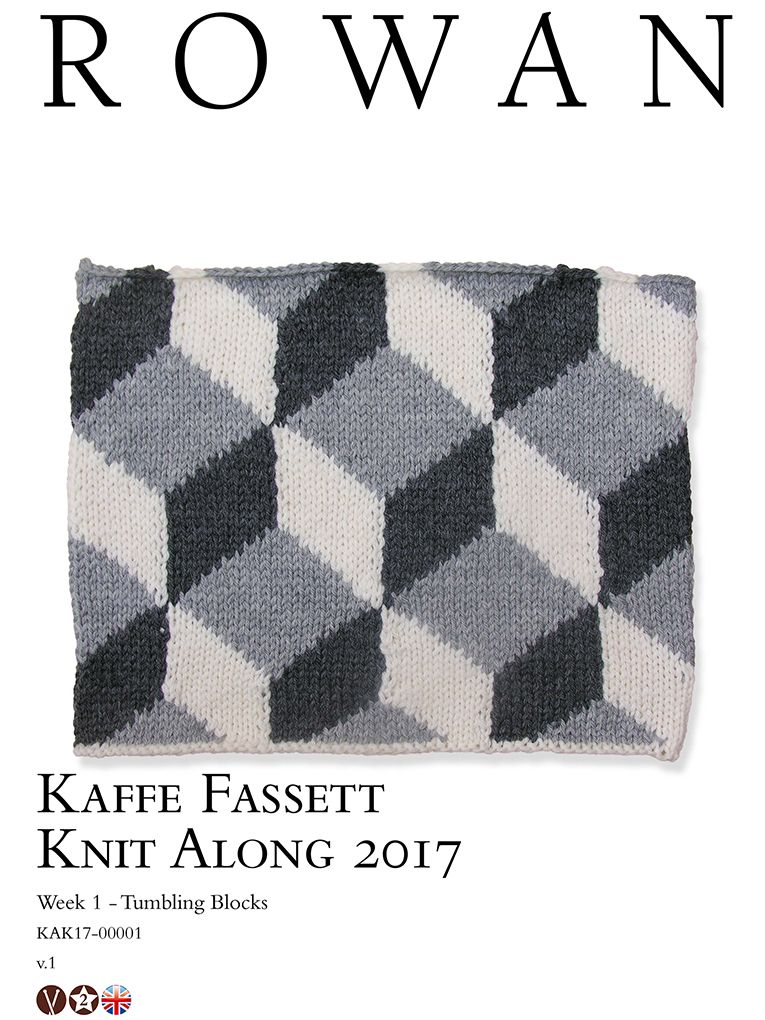 Kaffe Fassett Knit Along 2017 Week 1 Tumbling Blocks | Knit Kaffe ...