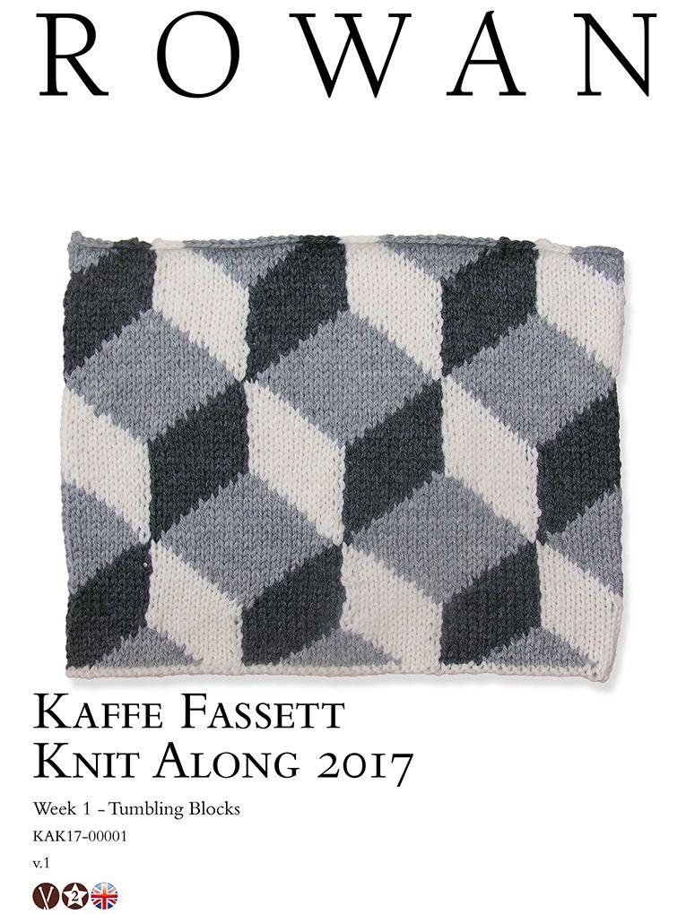 Kaffe Fassett Knit Along 2017 Week 1 Tumbling Blocks | Knit Kaffe ...