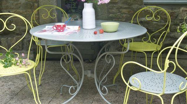 Repeindre Un Salon De Jardin En Fer C Est Facile Salon De Jardin Metal Mobilier Jardin Salon De Jardin