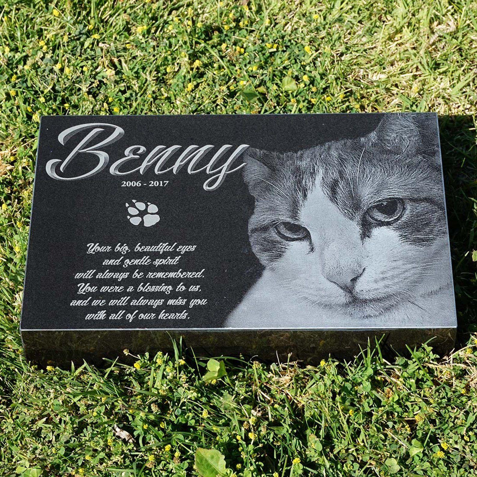 Engraved cat memorial engraved memorial laser engraved pet