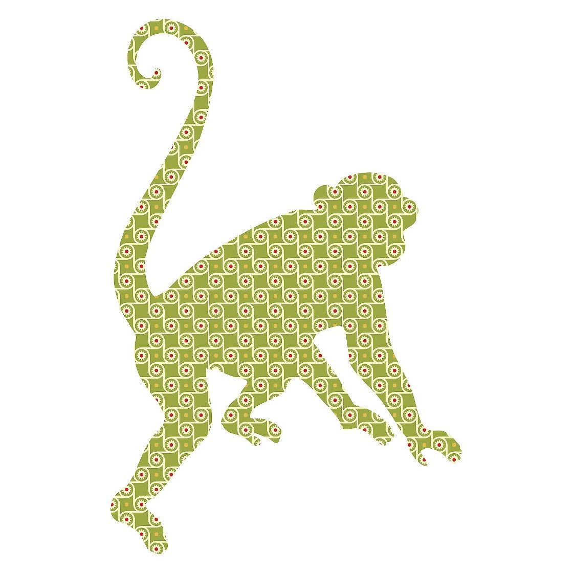 WallPops! Zoowallogy Antonienne the Monkey Ginormous Wall Art ...