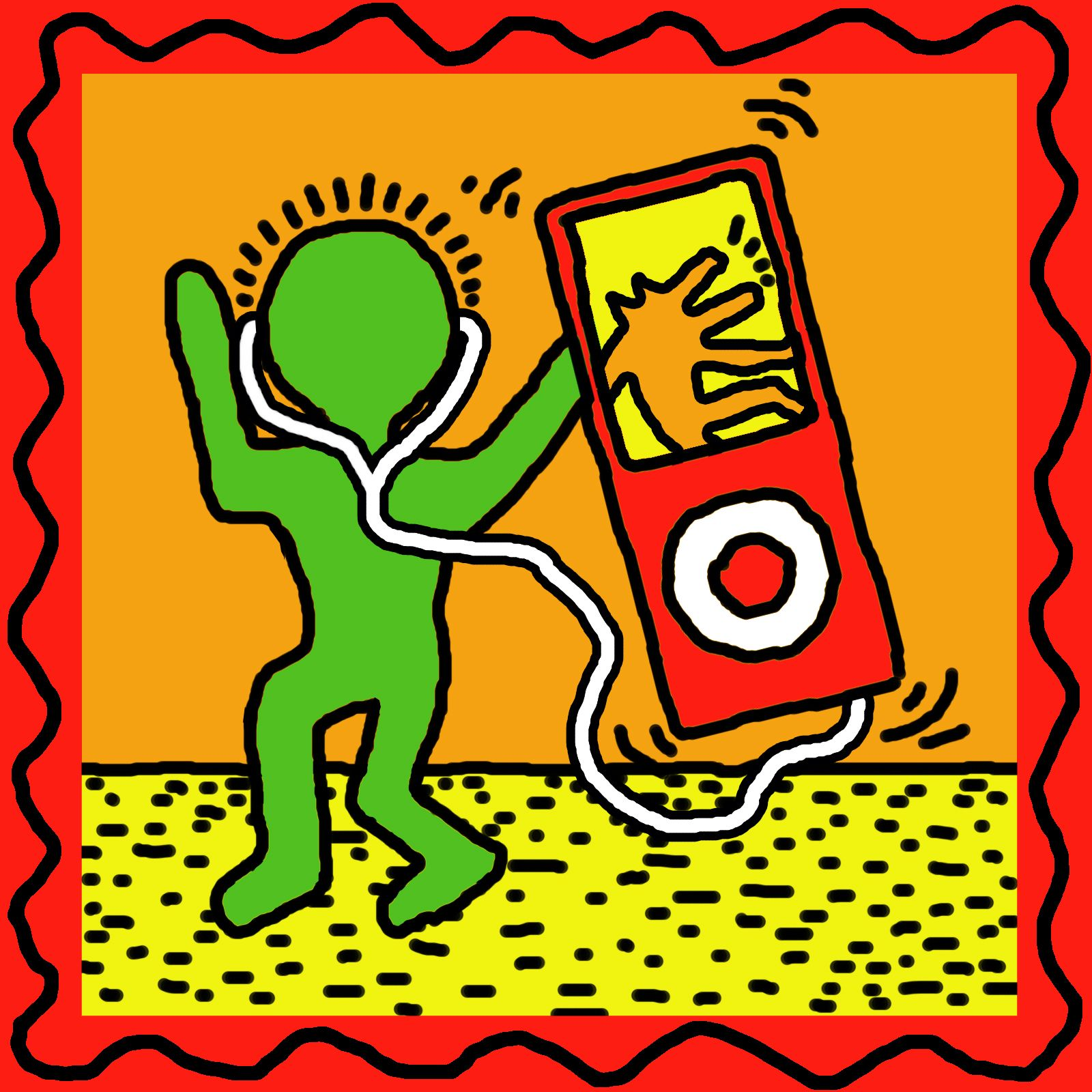 Keith Haring Man and Ipod, This Could Defiantly Could Be a Contour ...