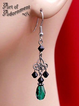 Absinthe Filigree Earrings by ~ArtOfAdornment on deviantART