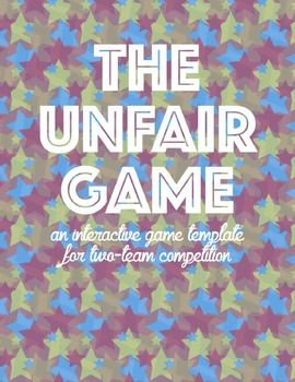 Game Template The Unfair Game Editable Powerpoint And