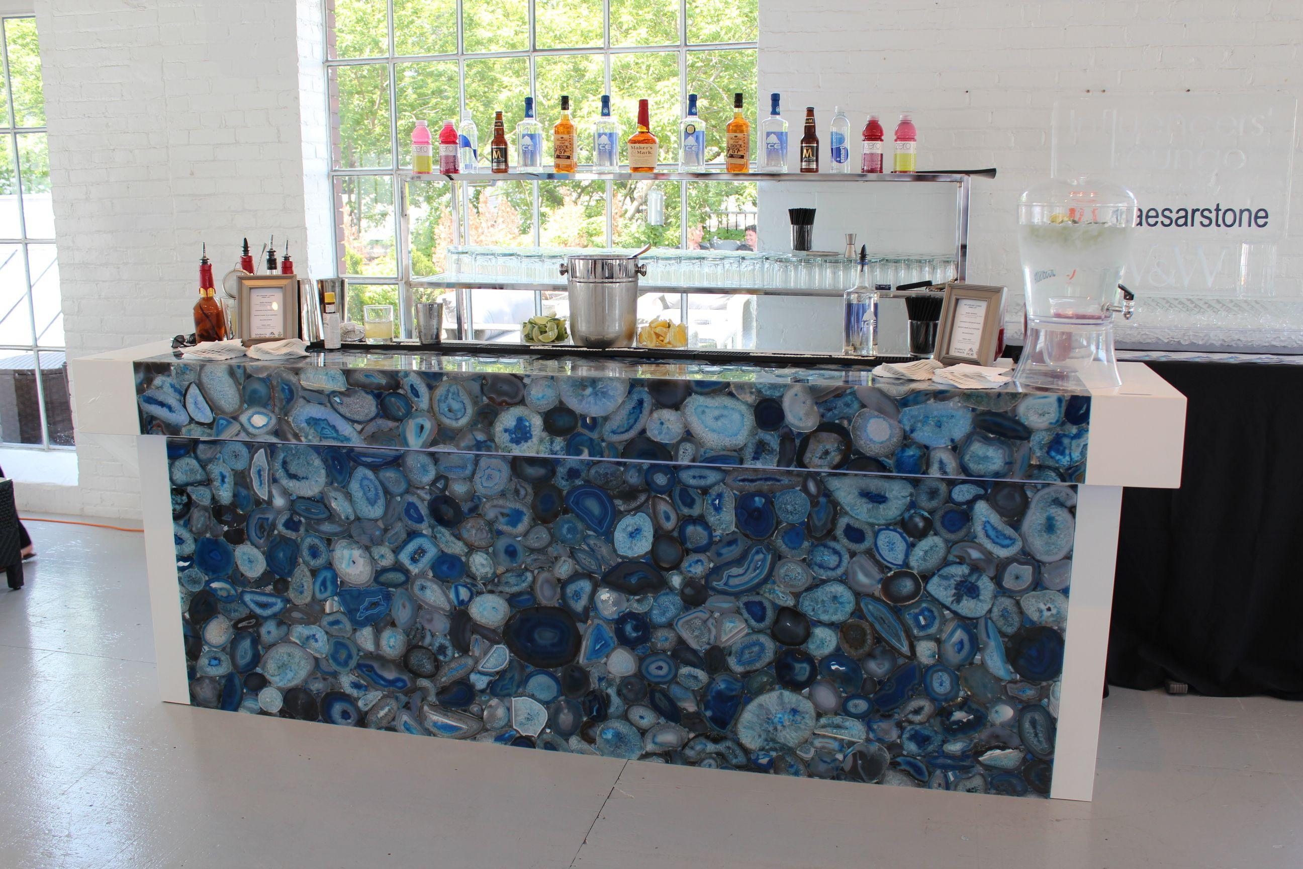 Caesarstone Concetto Blue Agate Bar Raise The Bar