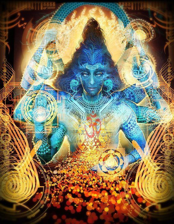Shiva by Android Jones | Art Of Love in 2019 | Android jones, Lord