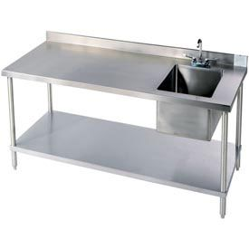 Industrial Stainless Steel Workbench With Built In Sink Would Be