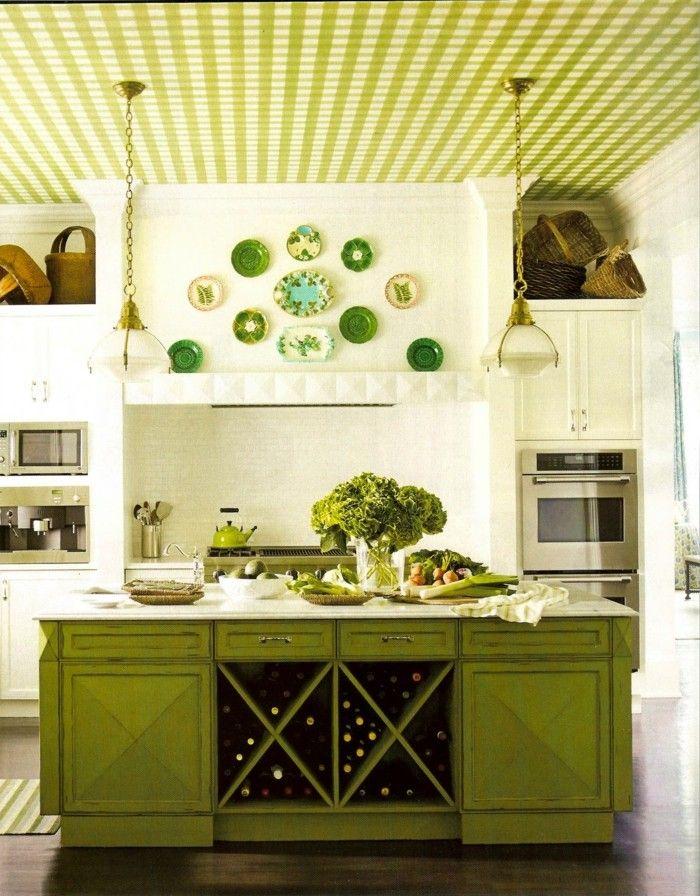 Wände dekorieren - 43 Wanddeko Ideen mit Leinwänden, Tellern und ...