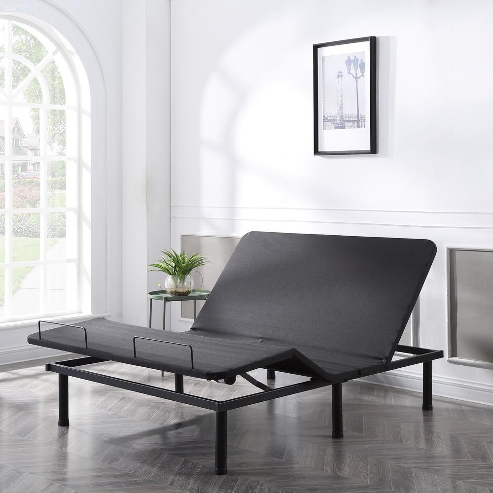 Adjustable Comfort Affordamatic Queen Adjustable Bed Base Black Adjustable Beds Bed Base Adjustable Bed Frame