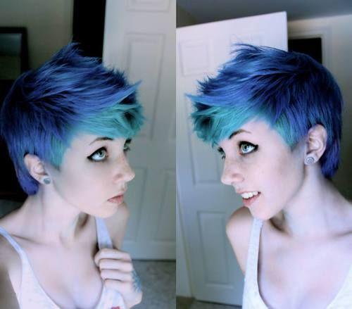 pixie cut dyed - google
