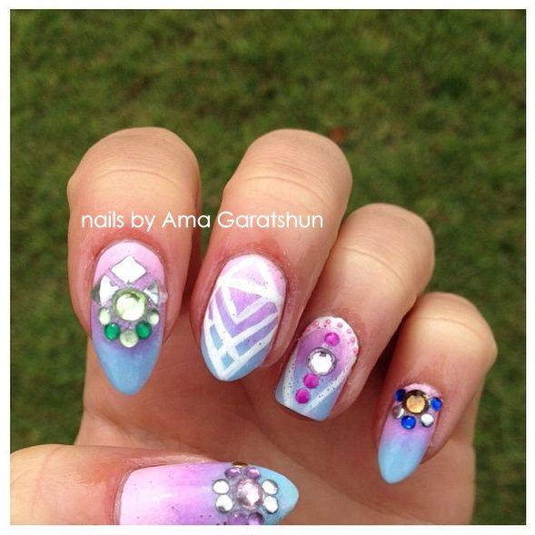 nail art by Ama Garatshun | Nails, Nail art, Natural nails