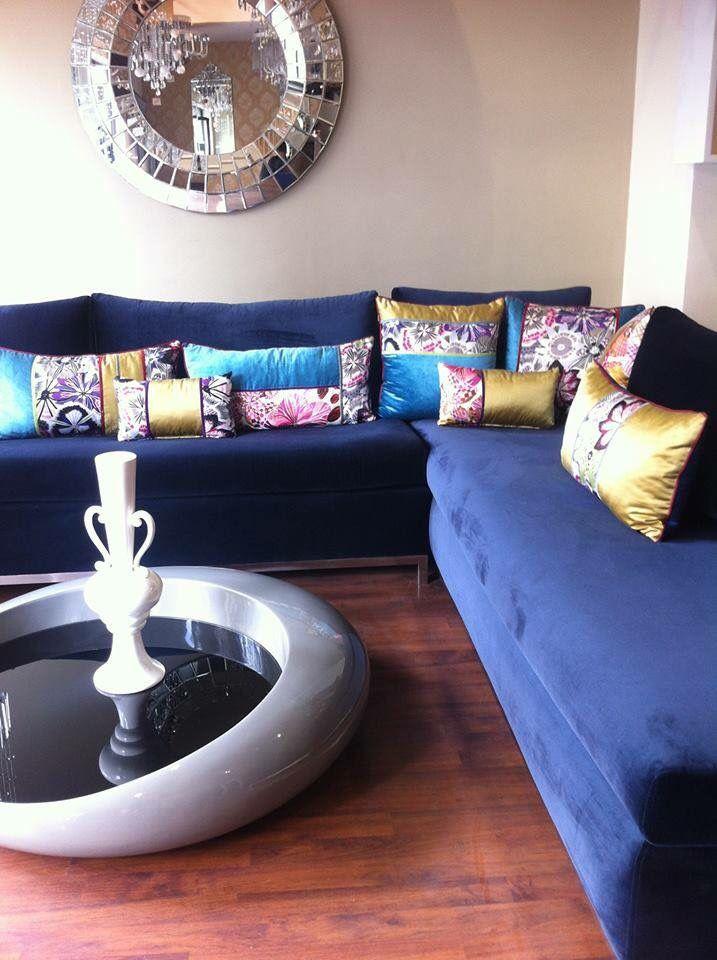Salon Marocain En Blue Moroccan Home Decor Moroccan Living Room Morocco Decor