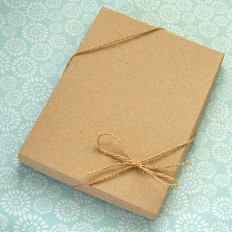 10 Kraft Boxes 5 X 7 X 1 2 Inch Professional Print Box Etsy Packaging Kraft Boxes Print Box