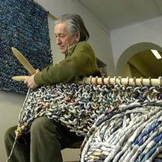 truly giant knitting ~ wow!
