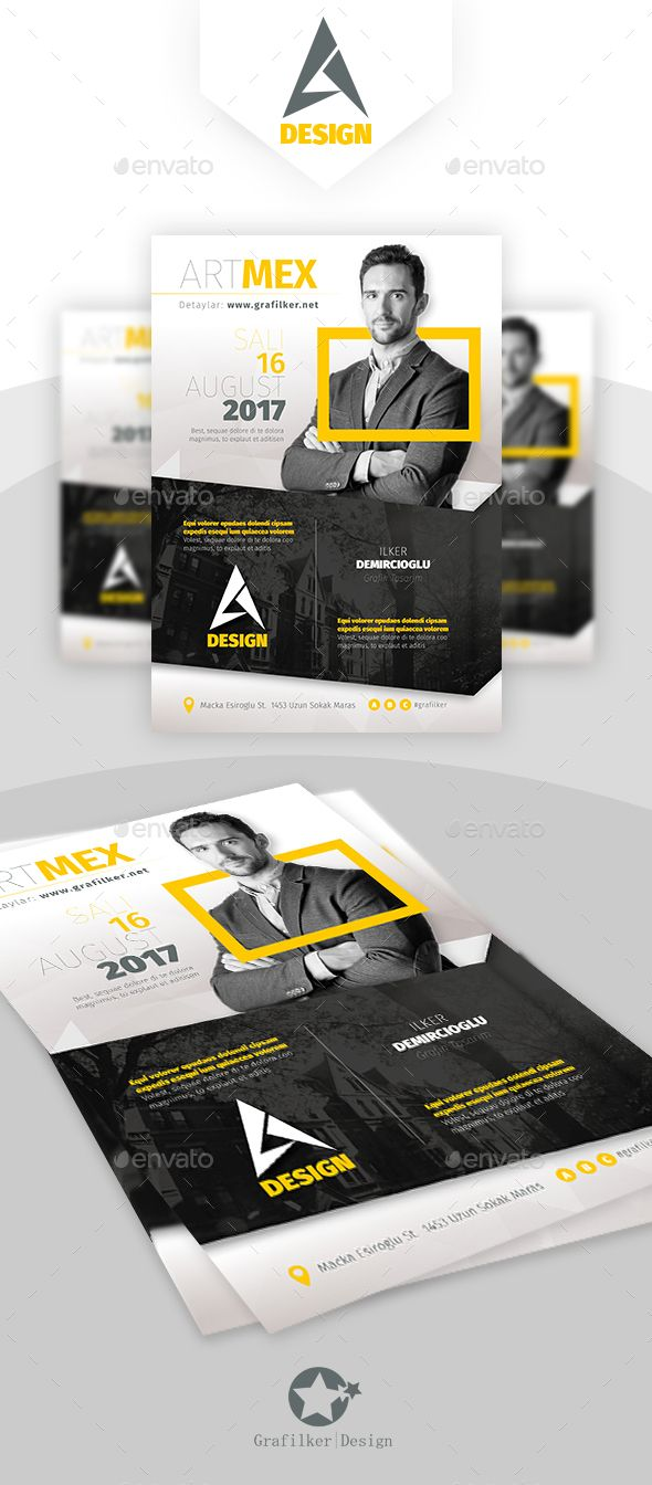 Seminar Flyer Templates  Flyer Template Event Flyers And Font Logo
