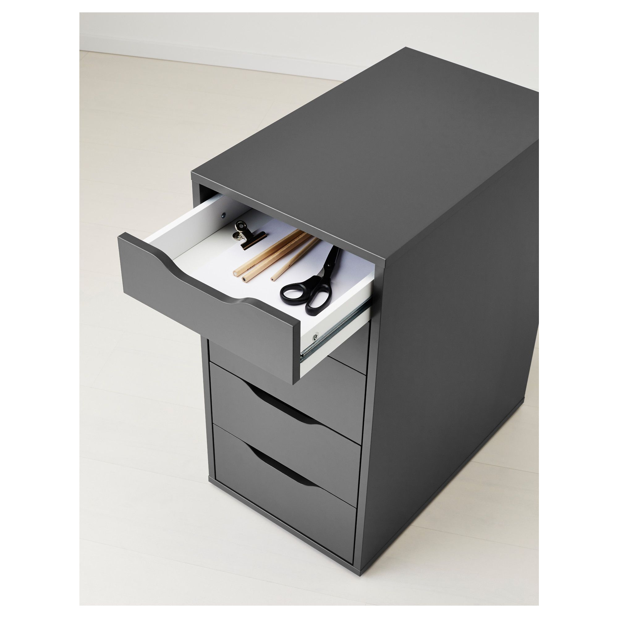 desk with drawers inlay leather doors black drawer modern