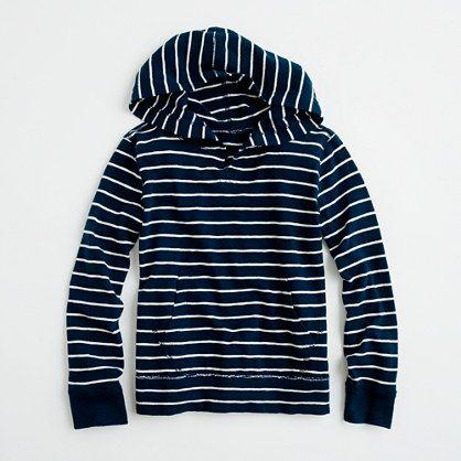 Factory boys' stripe hoodie