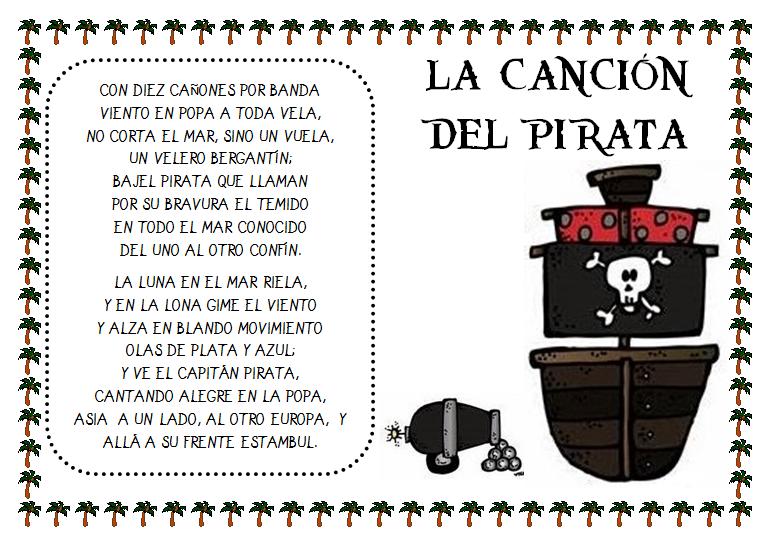 Poesía La Canción Del Pirata De Espronceda Piratas Piratas Infantiles Canciones Piratas