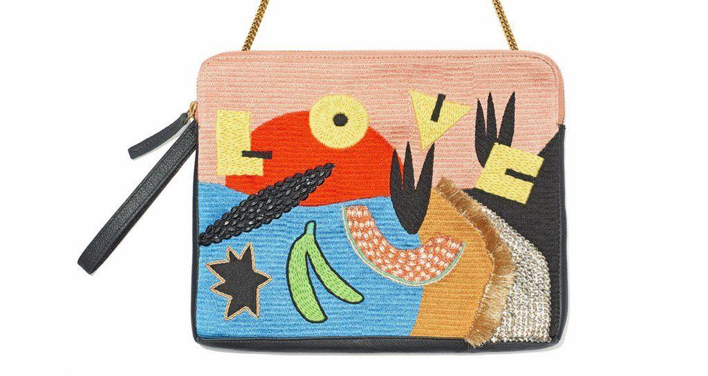 Safari Clutch In Peace And Love | Lizzie Fortunato