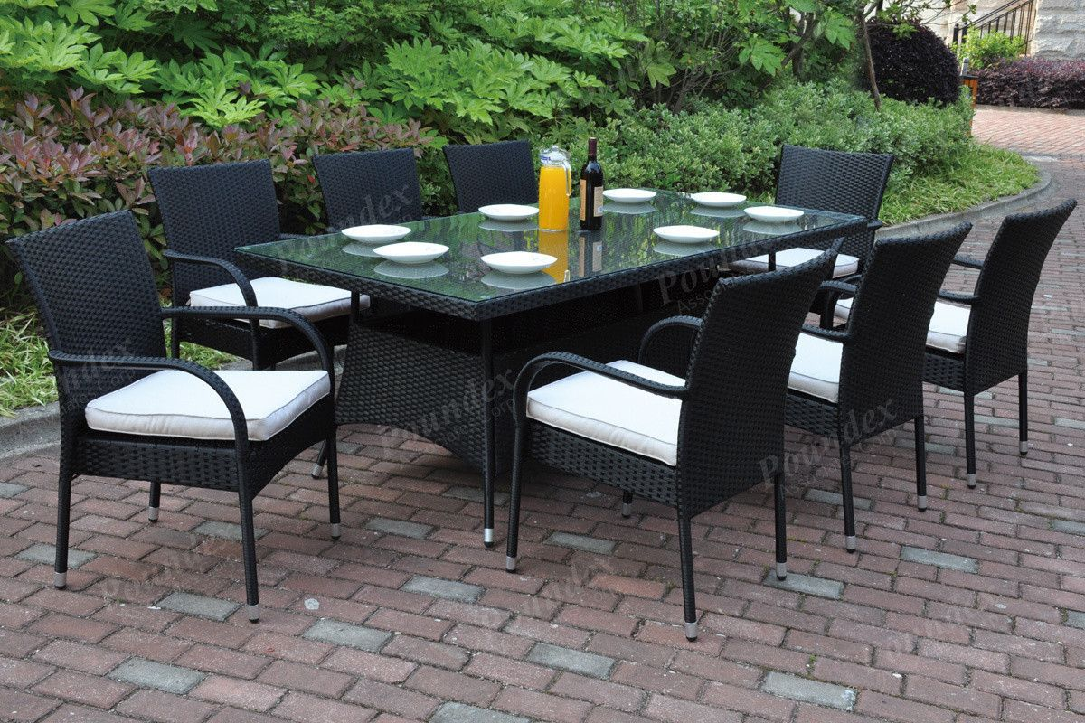 Poundex Poundex 9Pcs Outdoor Set 224  Outdoor Patio Dining Beauteous 9 Pcs Dining Room Set 2018