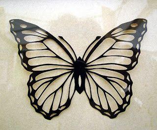 Grusskarte Scherenschnitt Schmetterling Scherenschnitt 7
