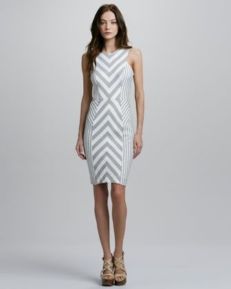 44a40c9e408e Milly Striped Dress - Neiman Marcus Creative use of stripes. Knit ...