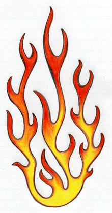 How To Draw Flames Harley Davidson Pinterest