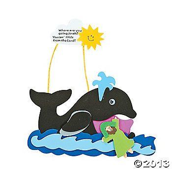 Jonah & the Whale Craft Kit | Sunday School materials | Pinterest ...