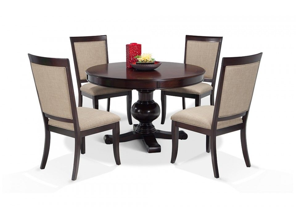 Gatsby Round 5 Piece Dining Set With Side Chairs Bobs Com Bob S Discount Furniture Dining Room Sets Round Dining Room