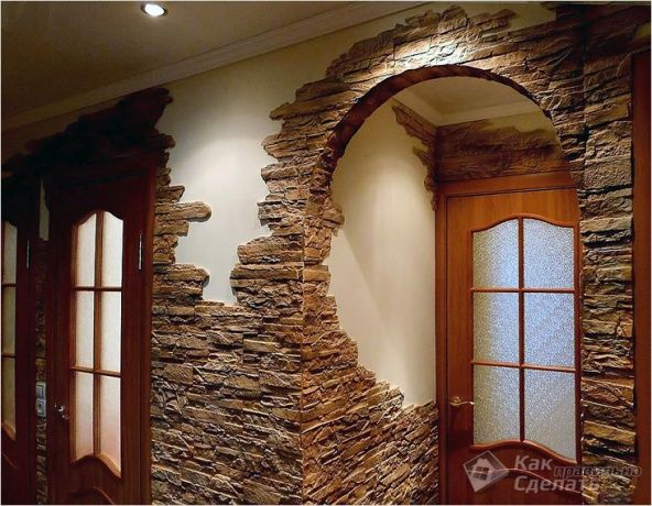 Image result for archi interni con pietre decorative - Pietre decorative per interni ...