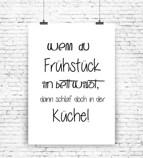 kunstdruck fr hst ck im bett von milalu auf milalu prints pinterest quotes. Black Bedroom Furniture Sets. Home Design Ideas