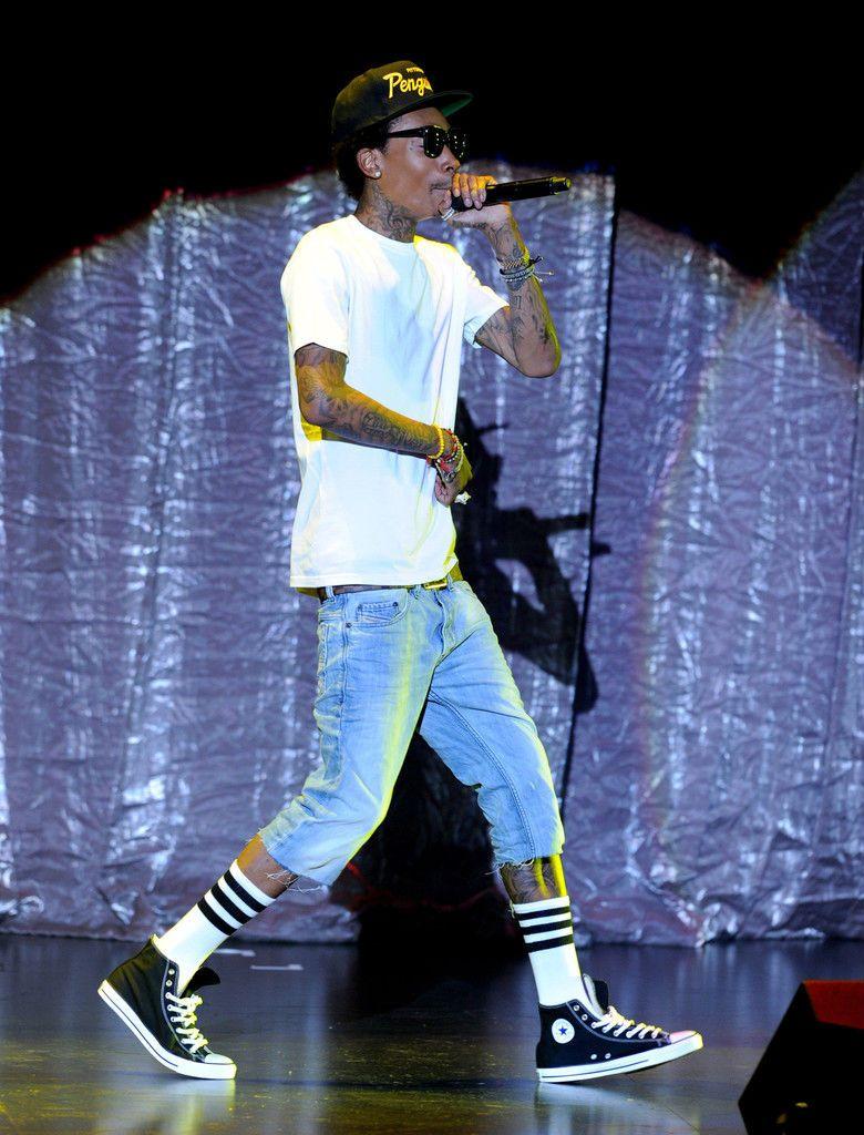 6716d9d2760e Wiz Khalifa wearing Converse Sneakers (6). Converse Chuck Taylor ...