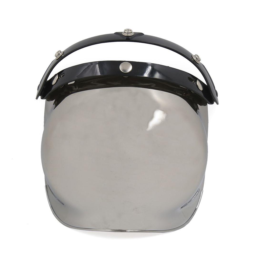 f5eff8d7 Mirrored-Bubble-3-Snap-Motorcycle-Helmet-Visor-Flip-Up-Wind-Face-Shield-Lens
