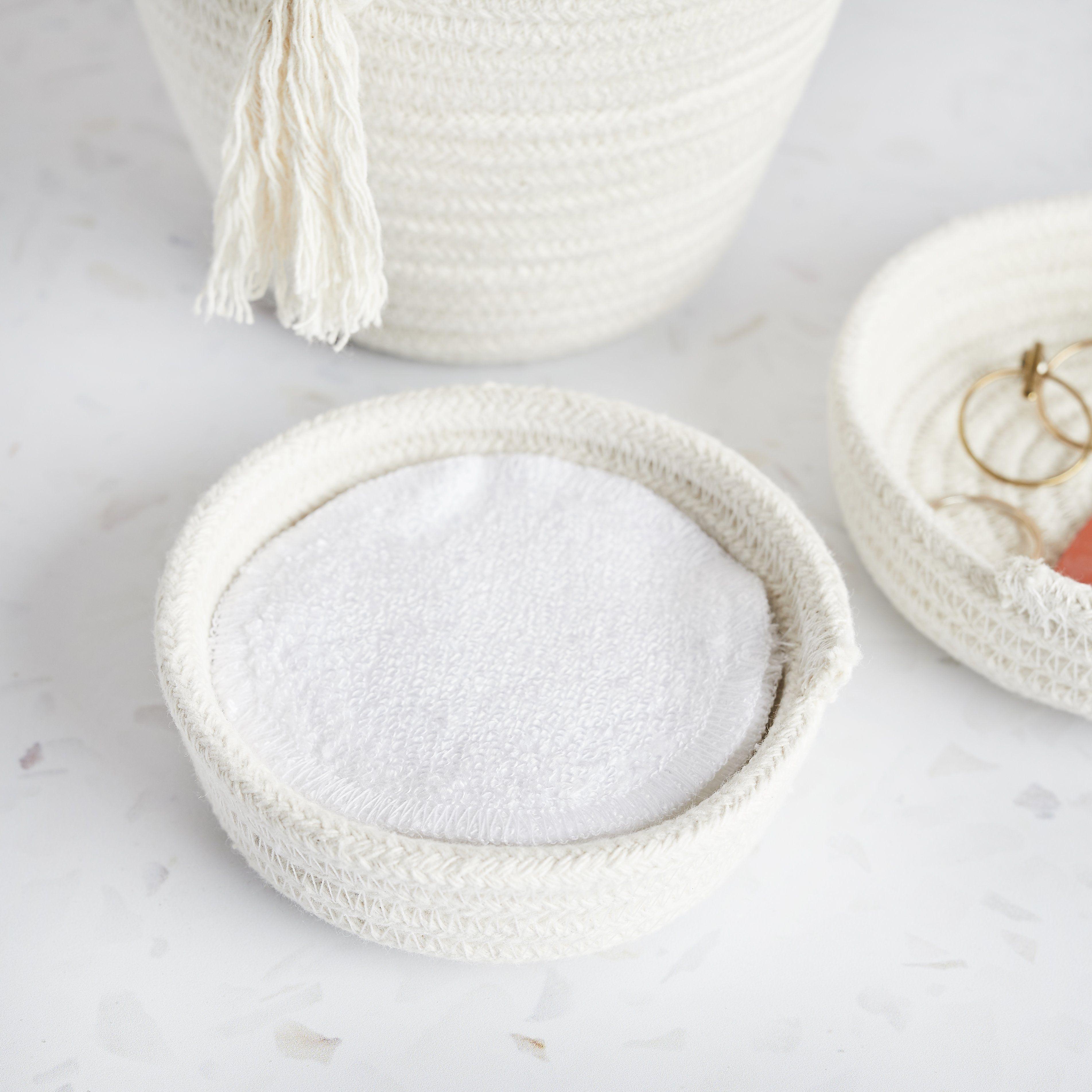 Kleine EcoTwist Bowl aus Baumwolle – Plus-Set mit 5 Make-up-Runden