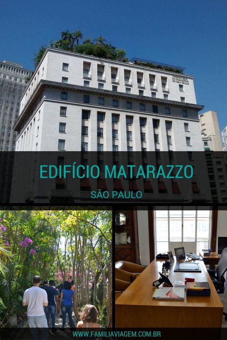 Edifício Matarazzo e seu belíssimo jardim suspenso. O prédio da Prefeitura serve como mirante de onde se pode ver São Paulo do alto. Conheça detalhes sobre o tour gratuito e guiado pelo edifício e seu jardim.