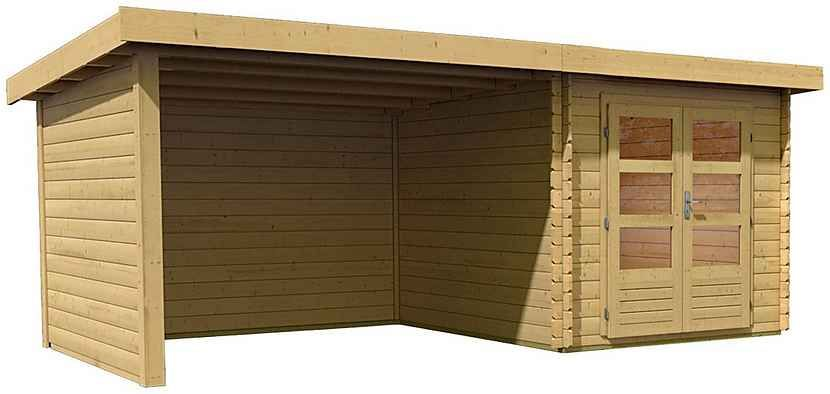 KONSTA Tuinhuis blokhut LUX 19 mm, 181 x 239 cm, naturel