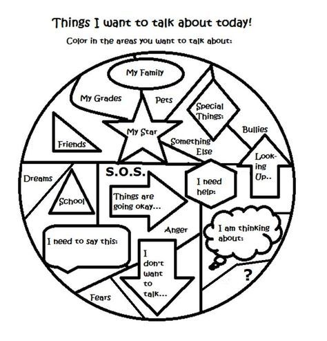 Free art therapy counseling group activity worksheet | Adolescent ...