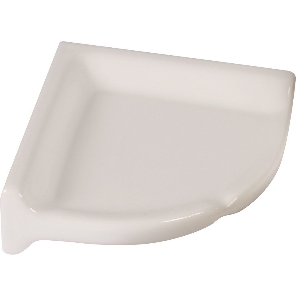 Amazon Com Apple Creek Ceramic Shower Corner Shelf 7 Inch 7 White Home Kitchen Shower Corner Shelf Apple Creek Shelves