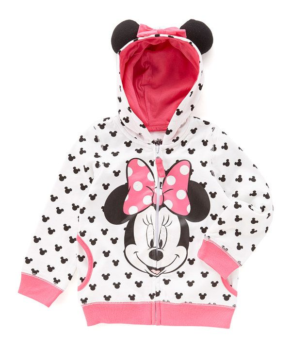 84f2487d0a6c Look at this White Minnie Mouse Eared Hoodie - Toddler   Girls on  zulily  today!