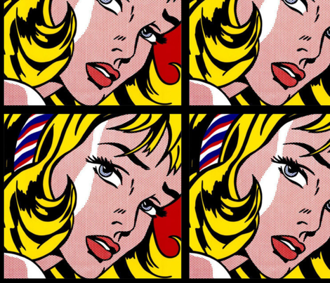 pop art comic girl fabric by raveneve on Spoonflower - custom ...
