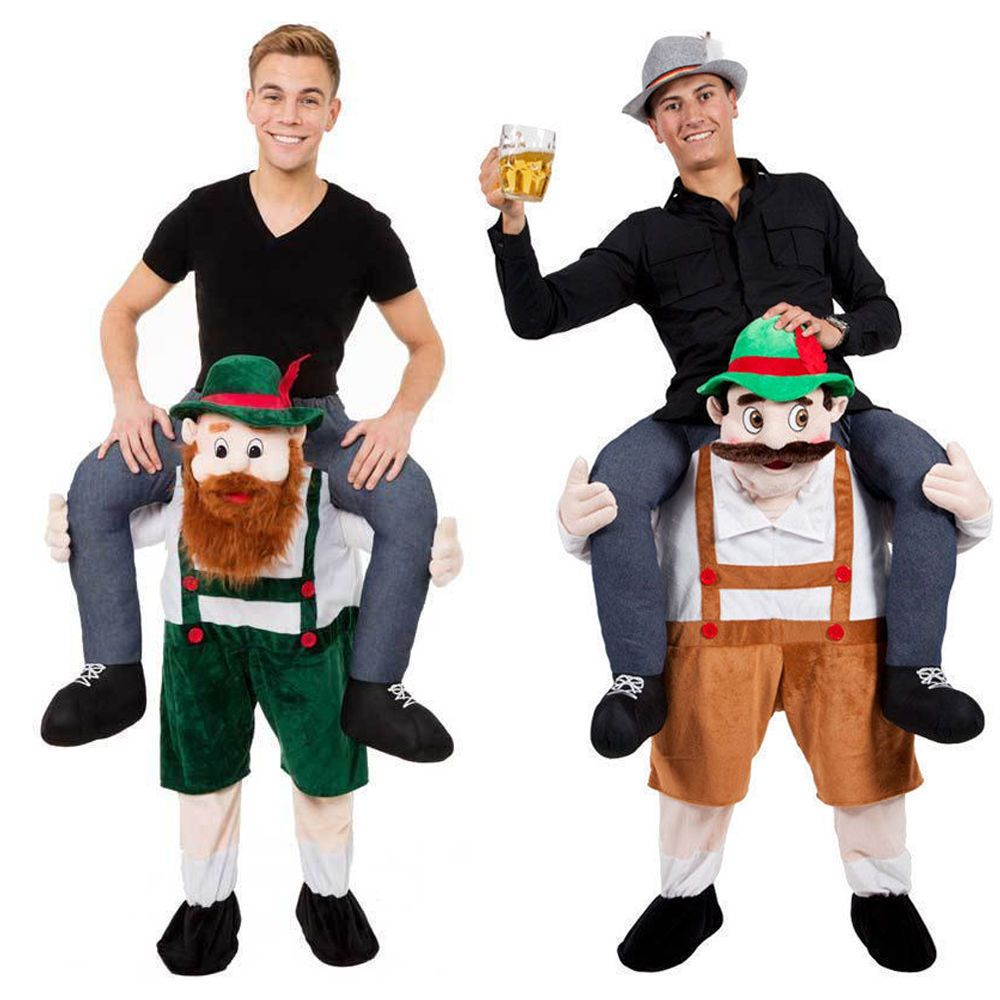Carry Me Bavarian Beer Guy Ride On Oktoberfest Mascot Fancy Halloween Costume