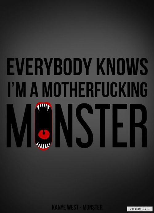 Little Monster Nicki Minaj Lyrics Hip Hop Quotes Kanye West Monster