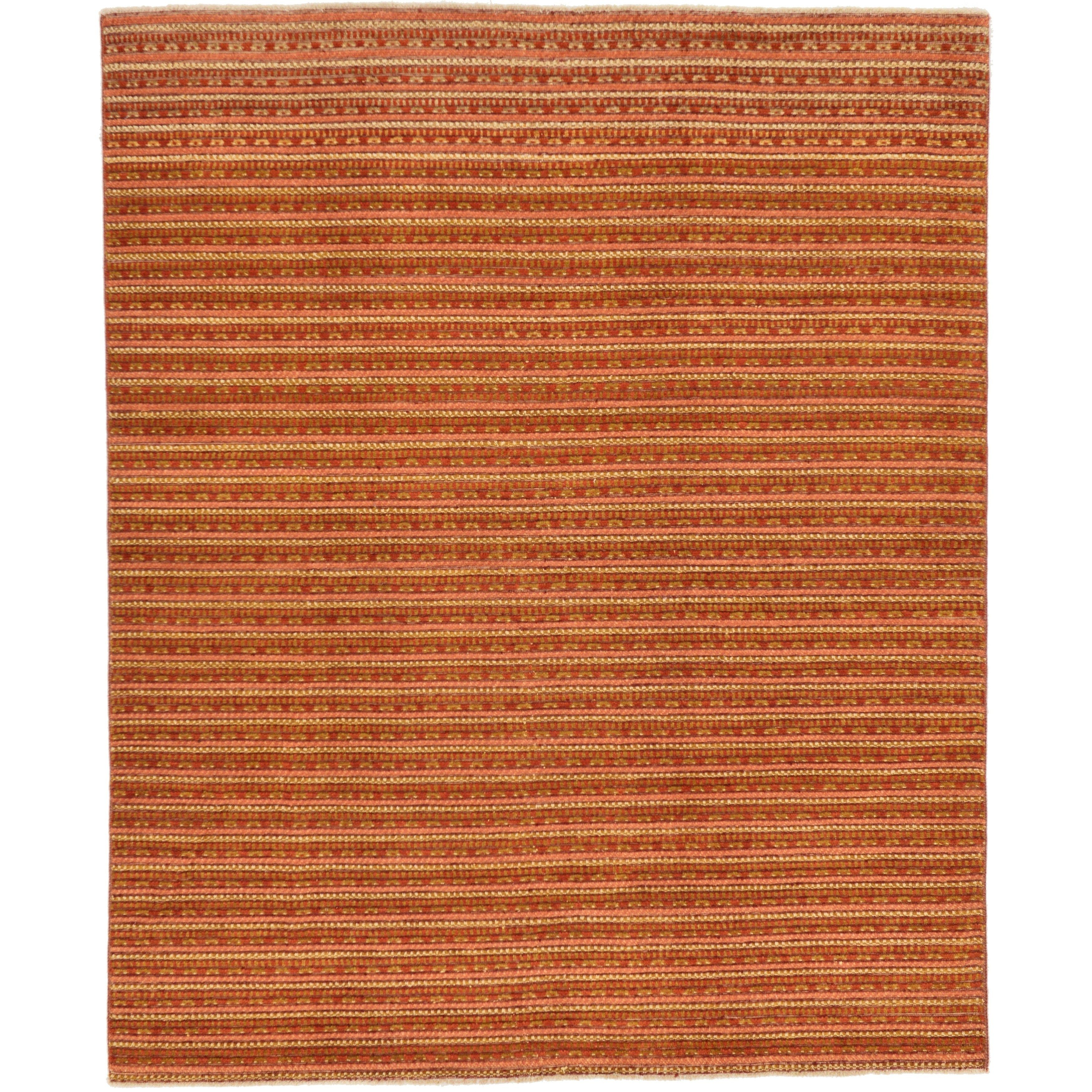 Refurbished Hand Knotted Modern Ziegler Silk Wool Area Rug 6